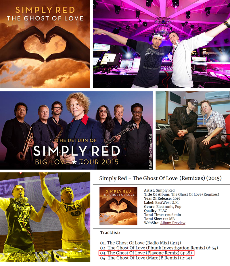 BIG SUCCESS! PLAYONE REMIXED A NEW SINGLE FOR A LEGENDARY BAND SIMPLY RED!